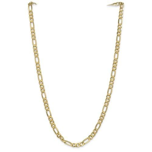 5.70mm Flat Figaro Chain - Happy Jewelers Fine Jewelry Lifetime Warranty