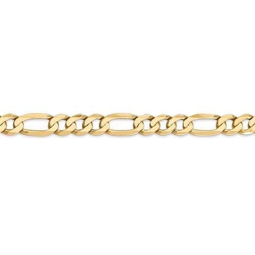 7.00mm Flat Figaro Chain - Happy Jewelers Fine Jewelry Lifetime Warranty