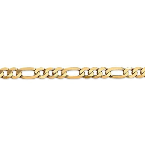 8.50mm Flat Figaro Chain - Happy Jewelers Fine Jewelry Lifetime Warranty
