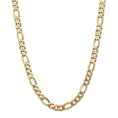 10.00mm Flat Figaro Chain - Happy Jewelers Fine Jewelry Lifetime Warranty