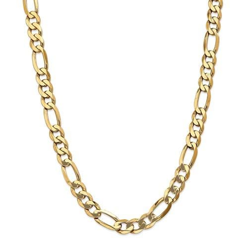 11.00mm Flat Figaro Chain - Happy Jewelers Fine Jewelry Lifetime Warranty