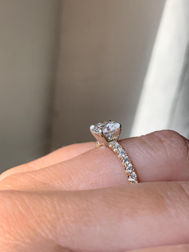 Engagement Ring Wednesday 1.13 carat Round Diamond - Happy Jewelers Fine Jewelry Lifetime Warranty