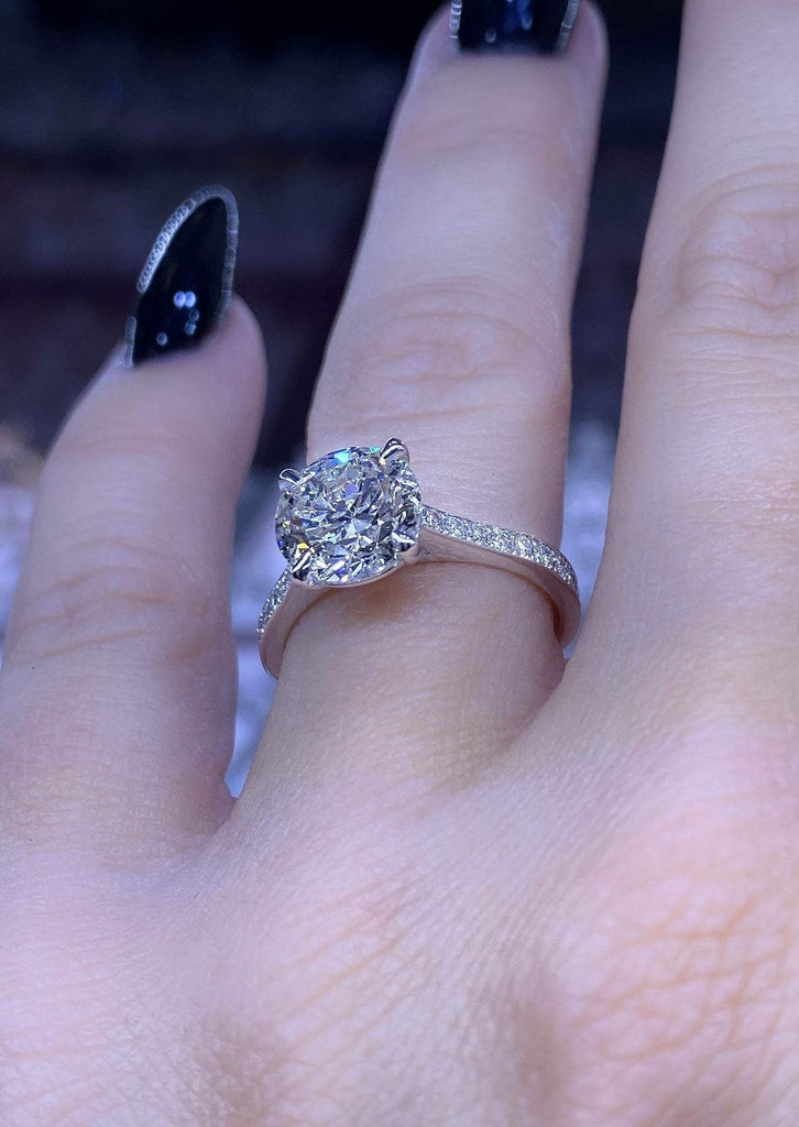 Engagement Ring Wednesday 2.00 Round Brilliant Diamond - Happy Jewelers Fine Jewelry Lifetime Warranty