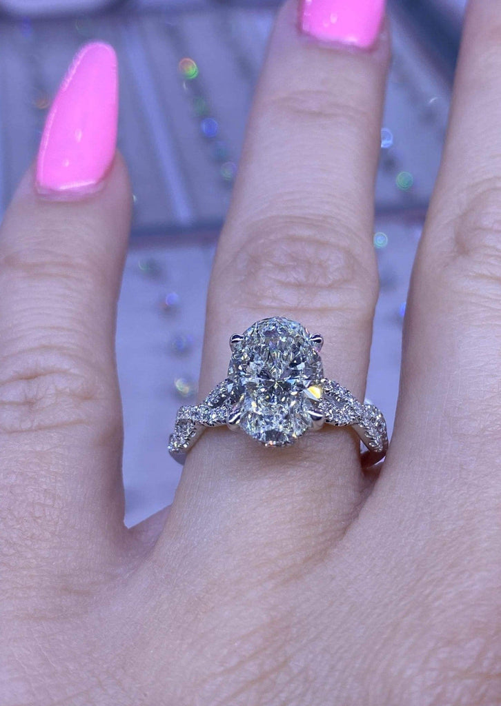 Engagement Ring Wednesday 2.52 Carat Oval Diamond - Happy Jewelers Fine Jewelry Lifetime Warranty