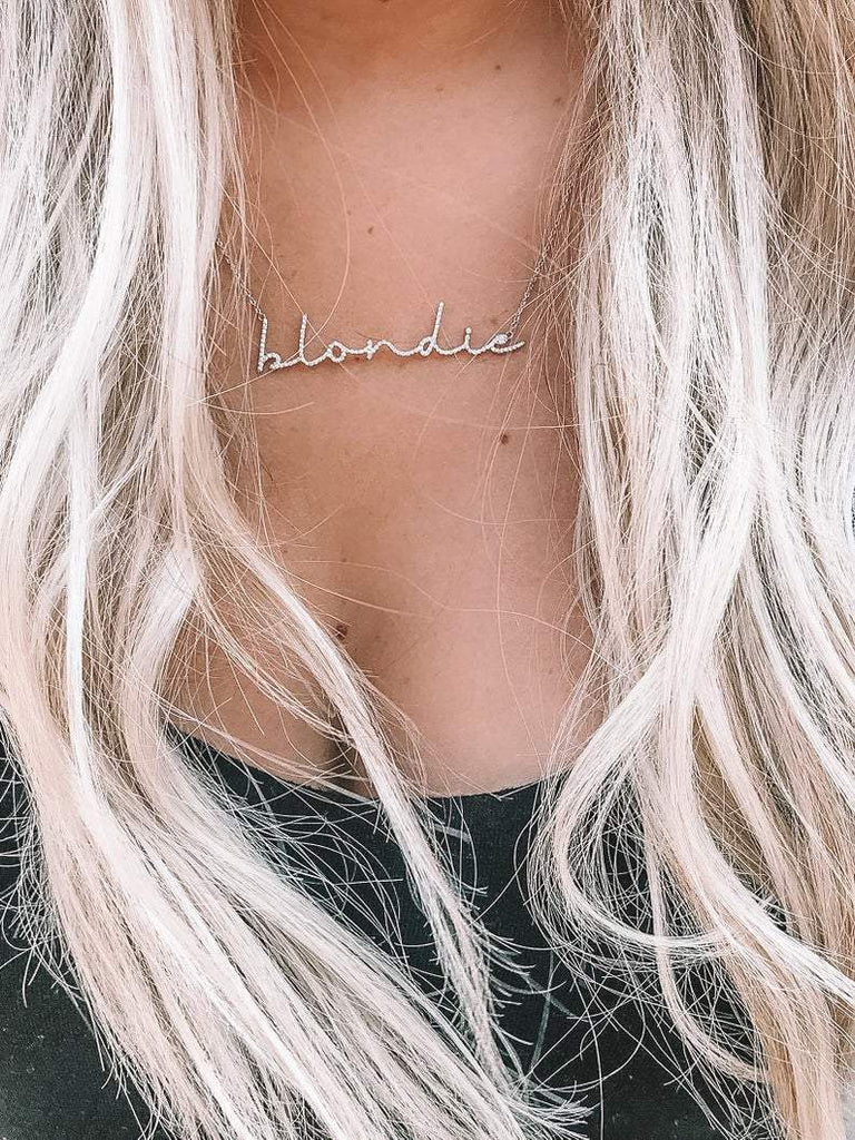 Dainty Cursive Diamond Personalized Necklace - Happy Jewelers Fine Jewelry Lifetime Warranty