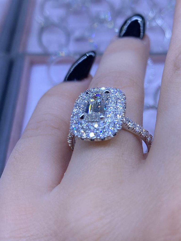 Engagement Ring Wednesday | 1.61 Carat Emerald Cut Diamond - Happy Jewelers Fine Jewelry Lifetime Warranty