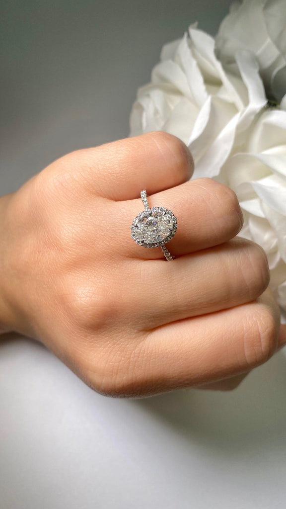 Engagement Ring 2.01 Oval Diamond - Happy Jewelers Fine Jewelry Lifetime Warranty
