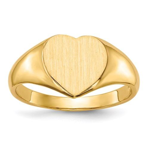 Signet Heart Ring - Happy Jewelers Fine Jewelry Lifetime Warranty