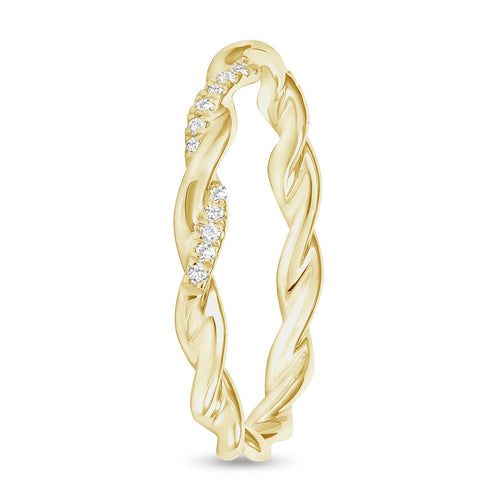 Half Diamond Twist Band - Happy Jewelers Fine Jewelry Lifetime Warranty