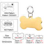 Personalized Pet ID Tag<br>[Bone] - My Best Paw