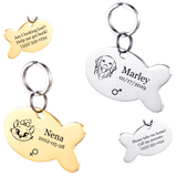 Personalized Pet ID Tag<br>[Fish] - My Best Paw