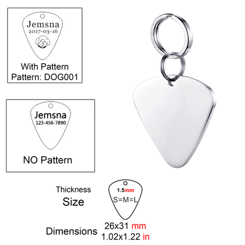 Personalized Pet ID Tag<br>[Guitar Pick] - My Best Paw