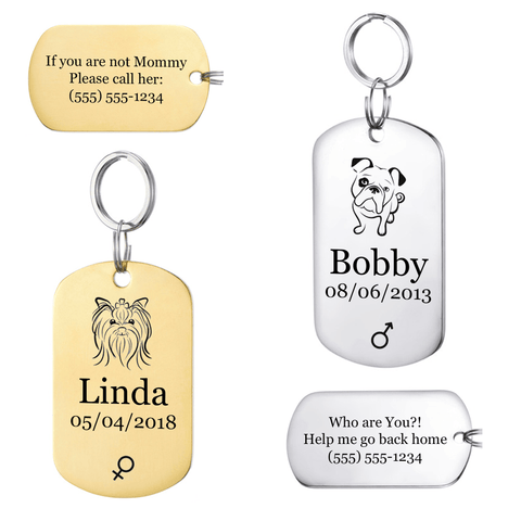 Personalized Pet ID Tag<br>[Military Tag] - My Best Paw