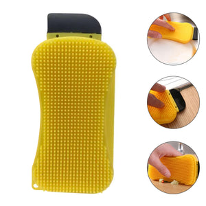 3-in-1 Premium Silicone Kitchen Sponge