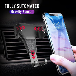 AUTOMATICALLY LOCKING WINDSHIELD PHONE HOLDER
