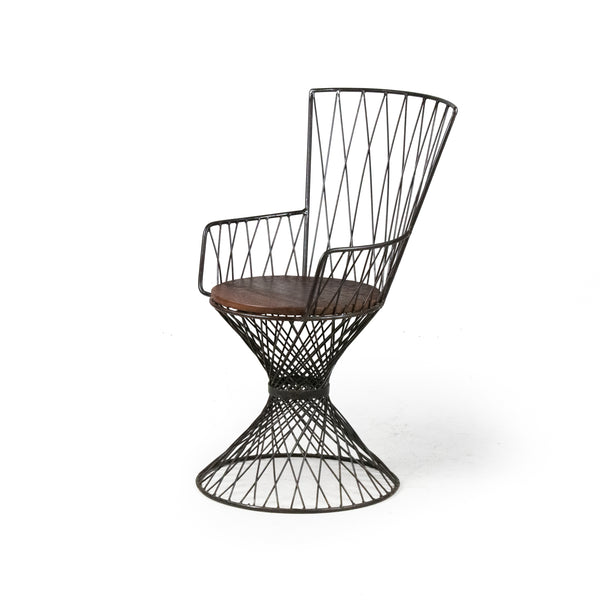 Wire & Wood Chair