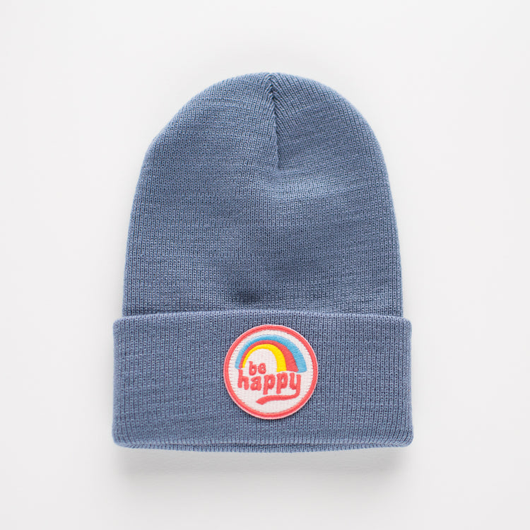PREORDER SHIPS 10/19- BE HAPPY INFANT/TODDLER BEANIE