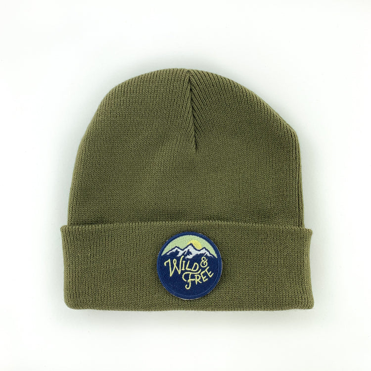 WILD AND FREE EVERGREEN YOUTH/ADULT BEANIE