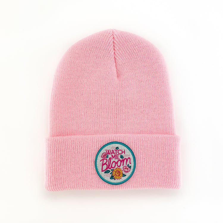 WATCH ME BLOOM PEONY INFANT/TODDLER BEANIE