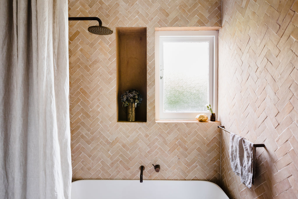 Moroccan zellige tiles bathroom design
