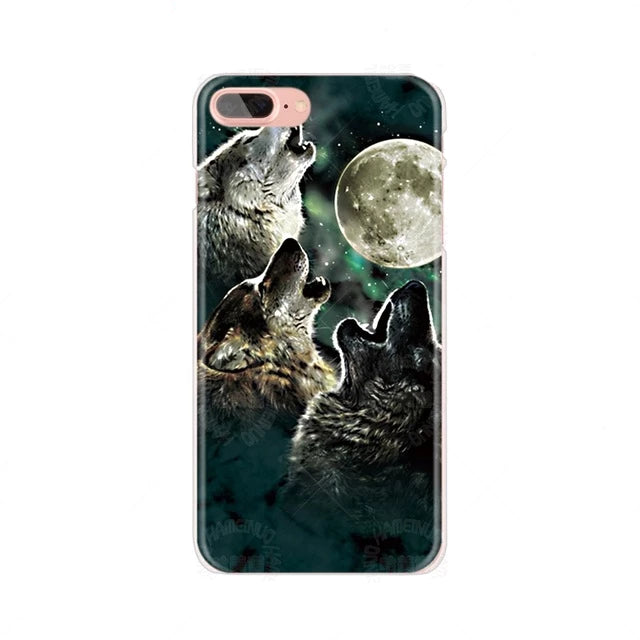 Wolves and Moon Cover for iPhone
