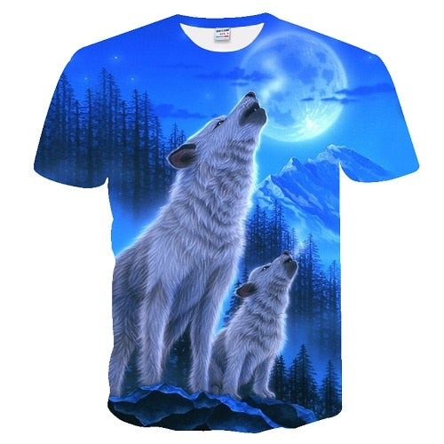 Wolves in The Woods T-Shirt 100% Cotton