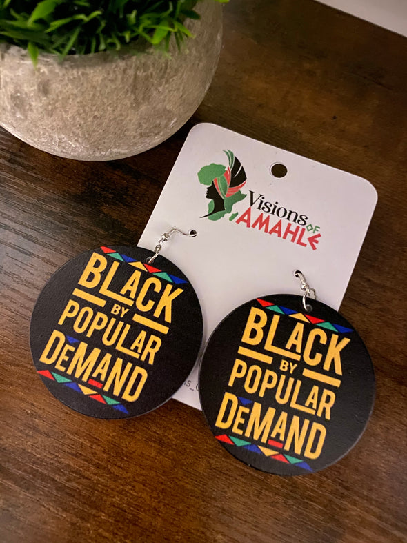 Black By Popular Demand | Earrings