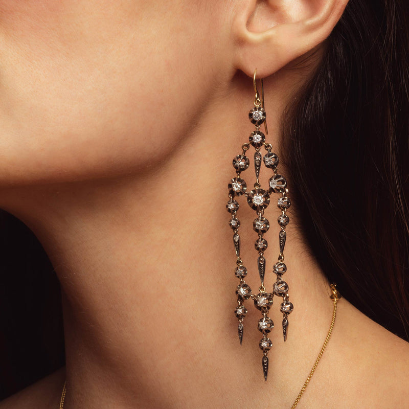 THE VICTORIAN DIAMOND CHANDELIER EARRINGS