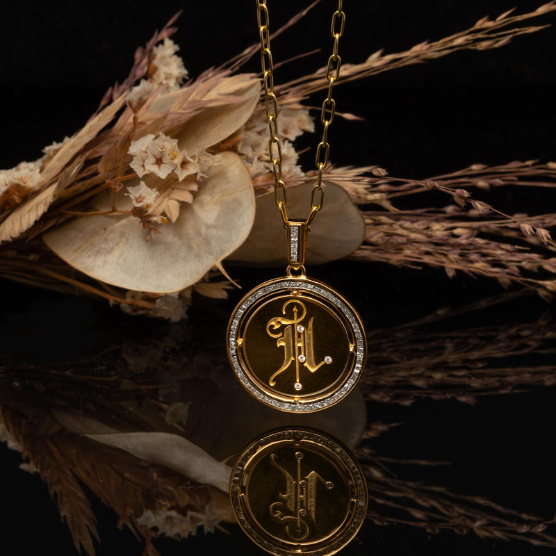THE INITIAL COIN NECKLACE