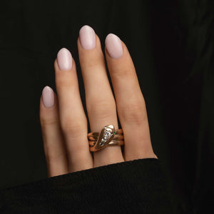 THE VICTORIAN DIAMOND SNAKE RING