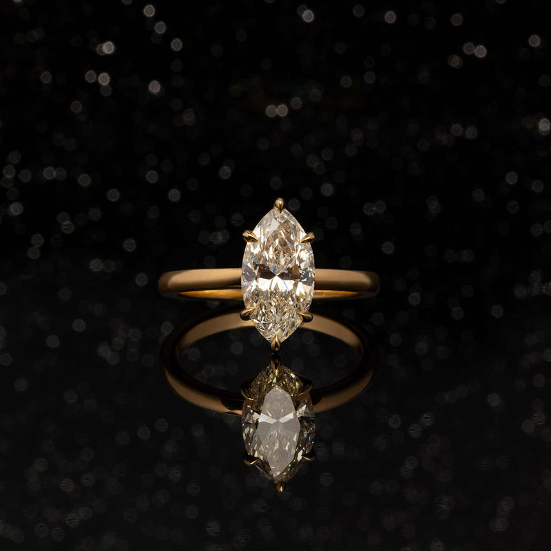 THE MARQUISE SOLITAIRE DIAMOND RING
