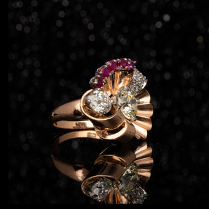 THE RETRO FLORAL SPRAY RING