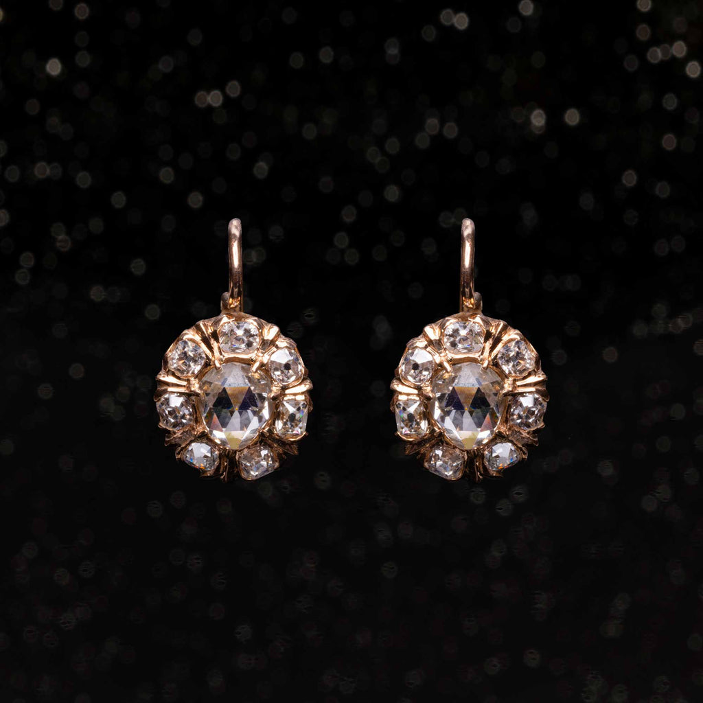 THE VICTORIAN ROSE CUT DIAMOND EARRINGS