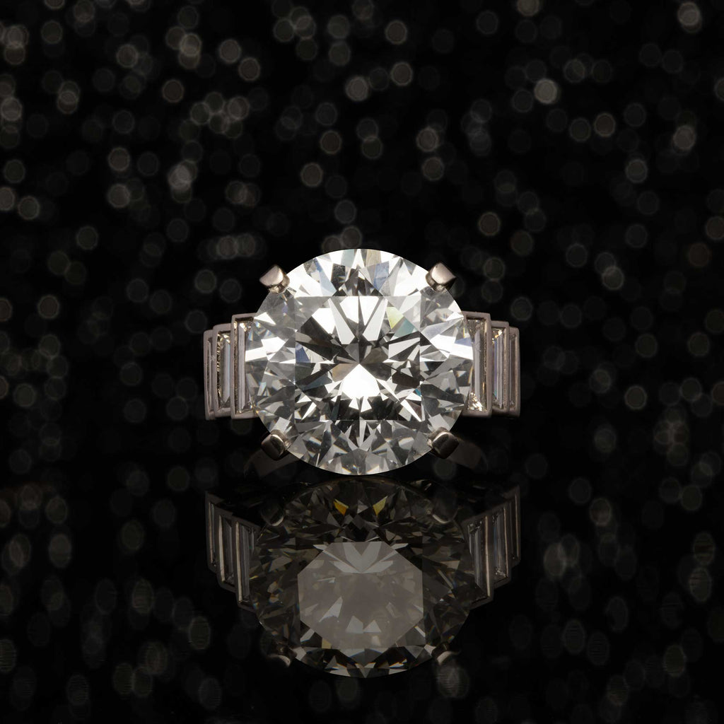 THE 12 CARAT DIAMOND ENGAGEMENT RING