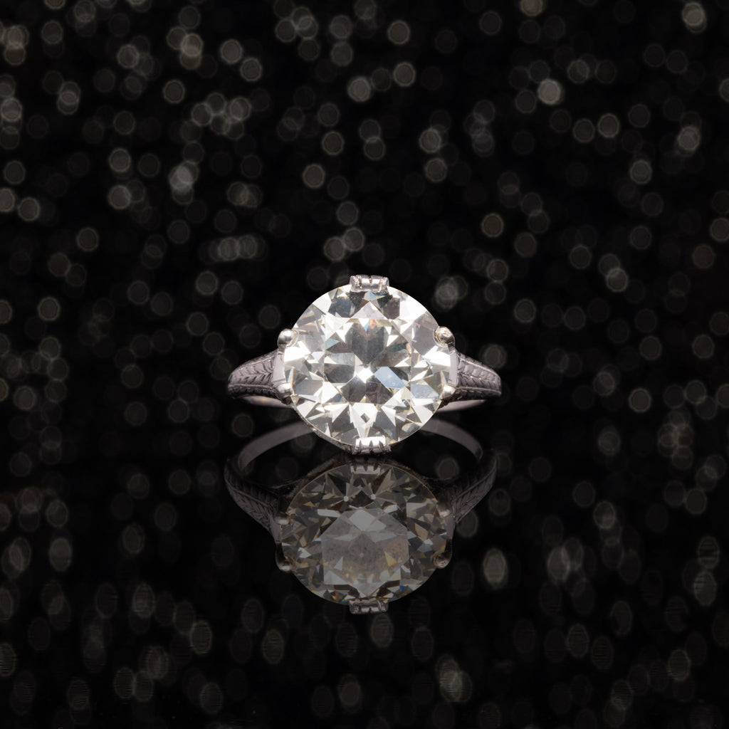 THE ANTIQUE ART DECO 4.59 OLD EUROPEAN CUT DIAMOND