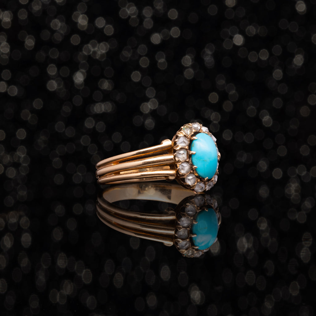 THE VICTORIAN TURQUOISE AND DIAMOND RING