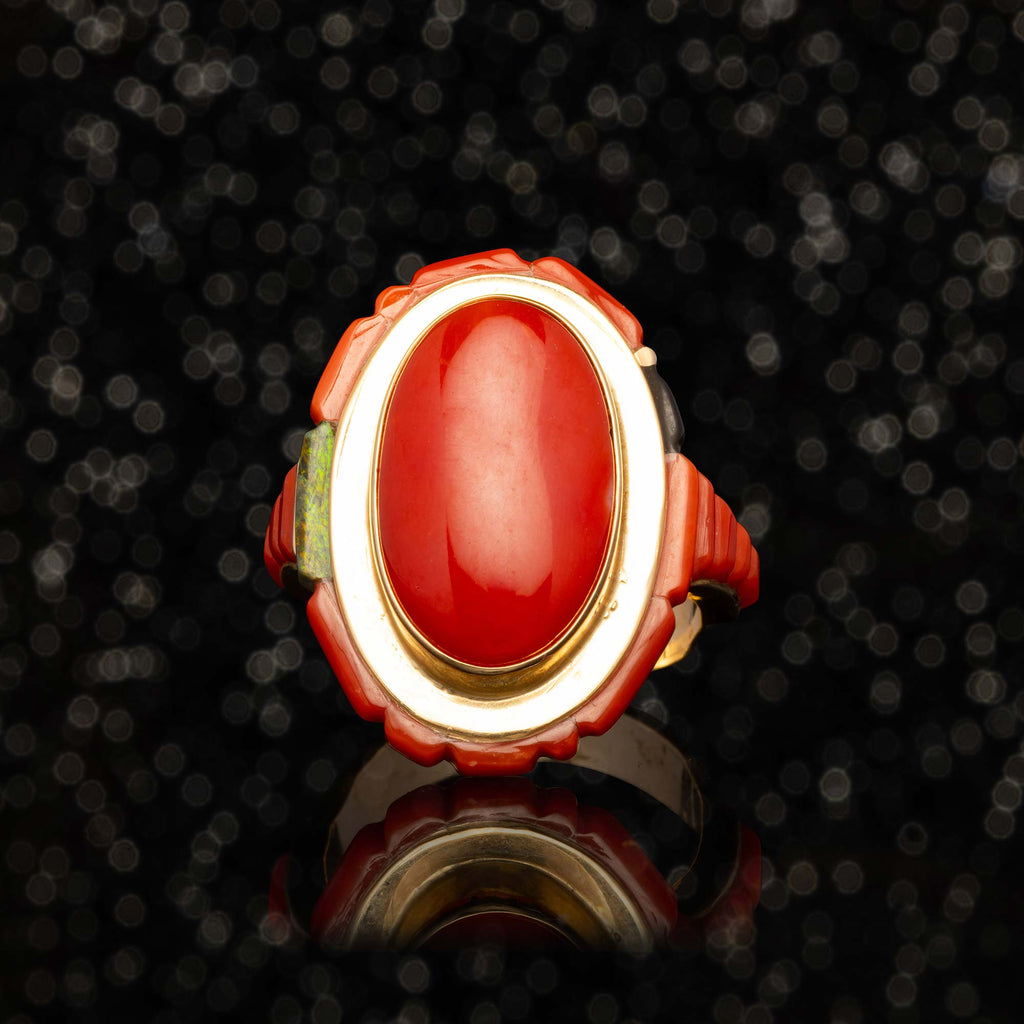 THE VINTAGE CORAL RING