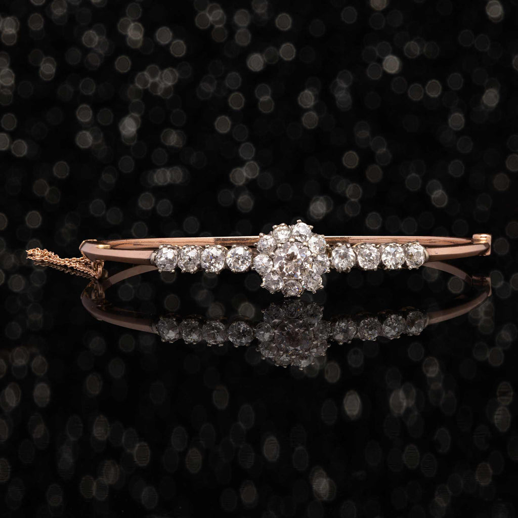 THE VICTORIAN DIAMOND CLUSTER BANGLE