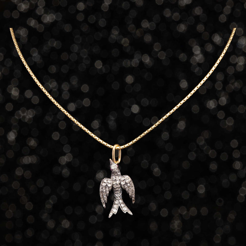 THE VICTORIAN DIAMOND SWALLOW CHARM