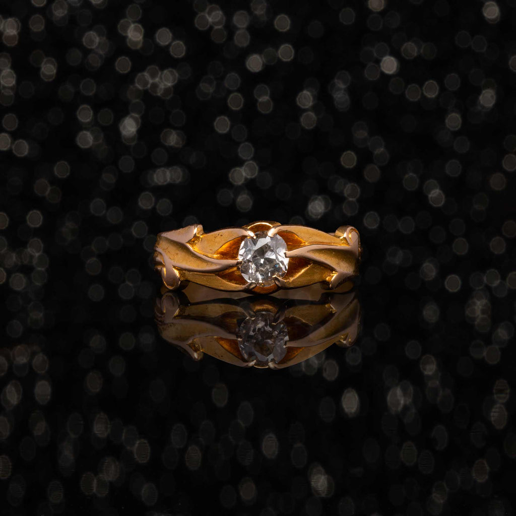 THE ANTIQUE ART NOUVEAU BLOSSOM DIAMOND RING