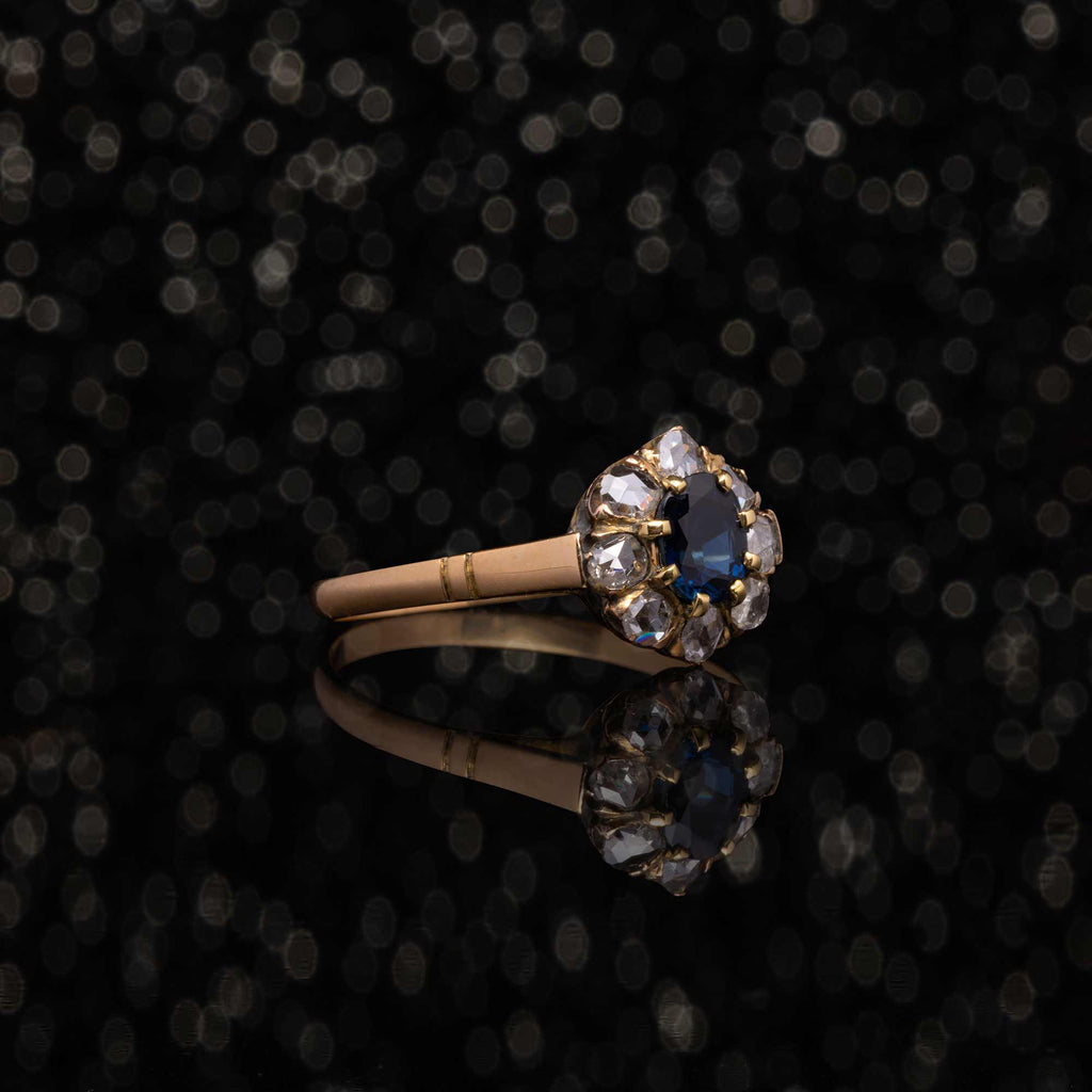 THE DIAMOND & SAPPHIRE ANEMONE RING