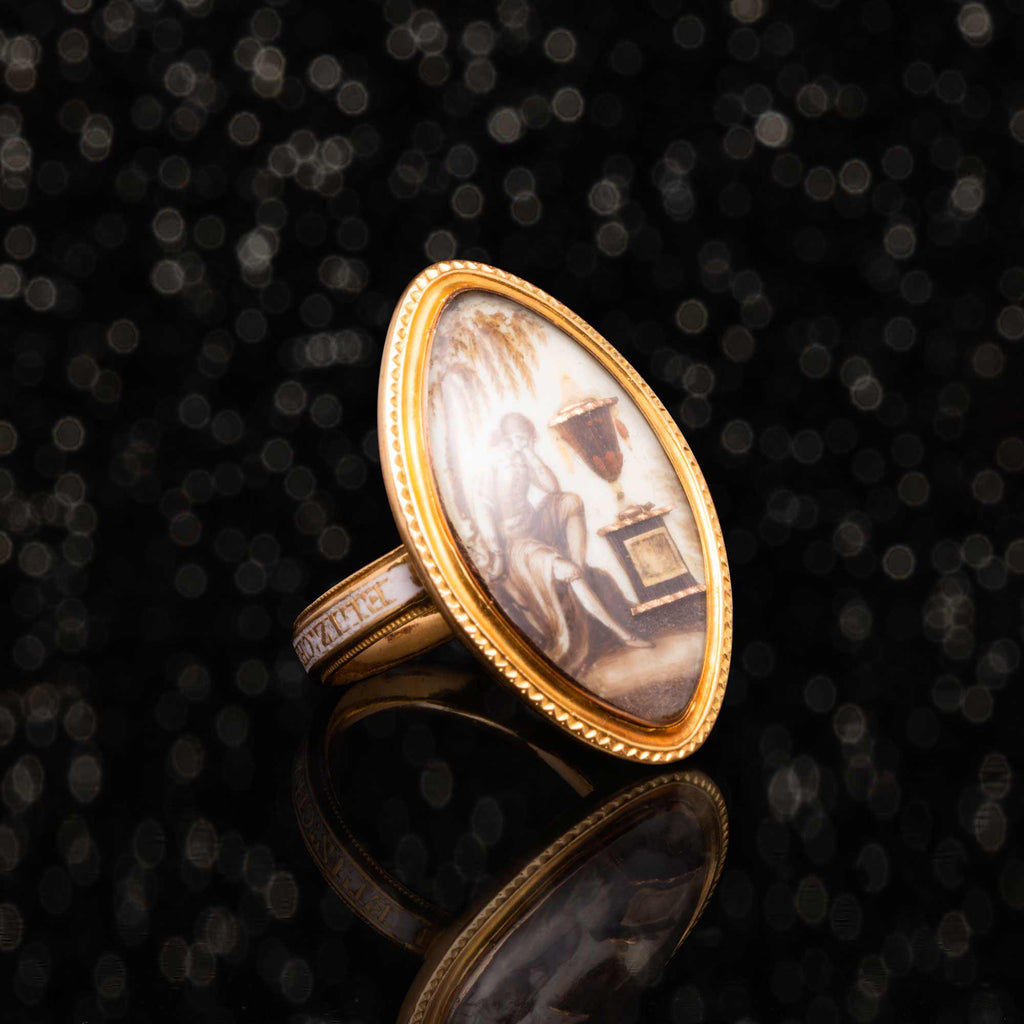 THE GEORGIAN PORTRAIT MOURNING RING
