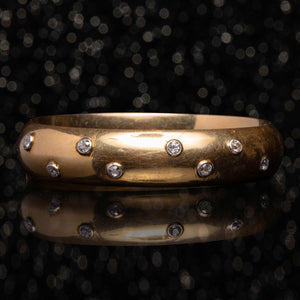 THE VINTAGE GOLD & DIAMOND BANGLE