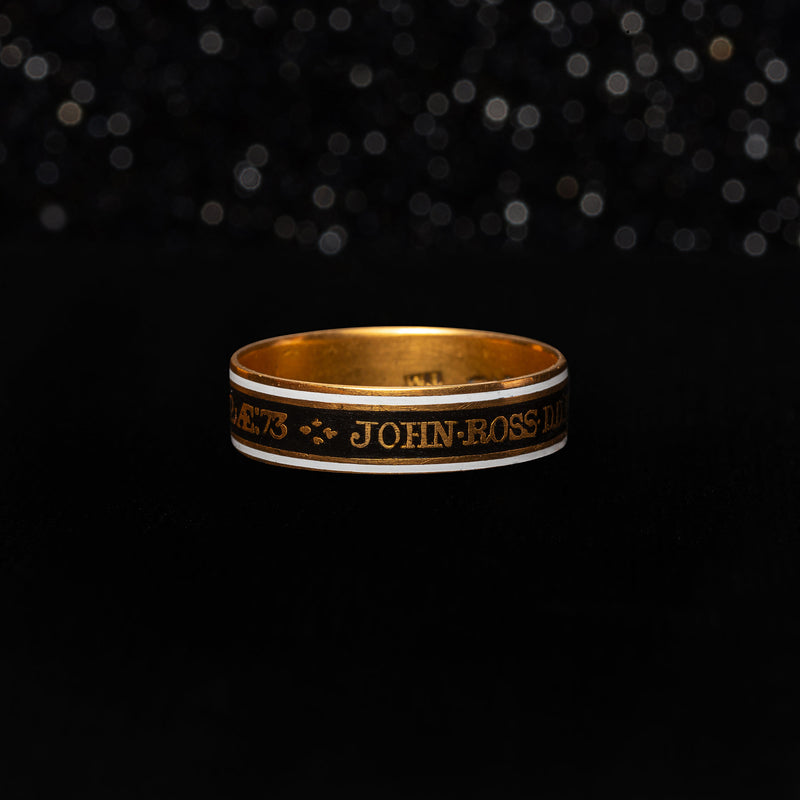 THE BISHOP OF EXON MOURNING RING - The Moonstoned