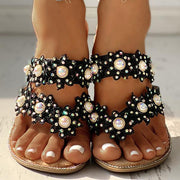 Women's Studded Toe Post Flat Slipper