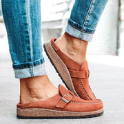 Women's Casual Comfy Clogs Suede Leather Slip On Sandals