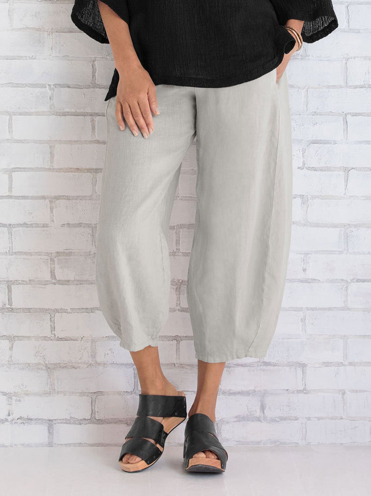 Women Cotton Pants Spring Summer Casual Pants
