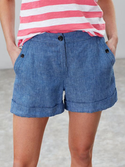 Women's Plus size Casual Solid Shorts