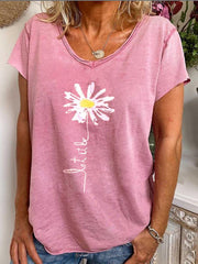 Pink cotton blend short sleeve shirts & Shirts & Blouses