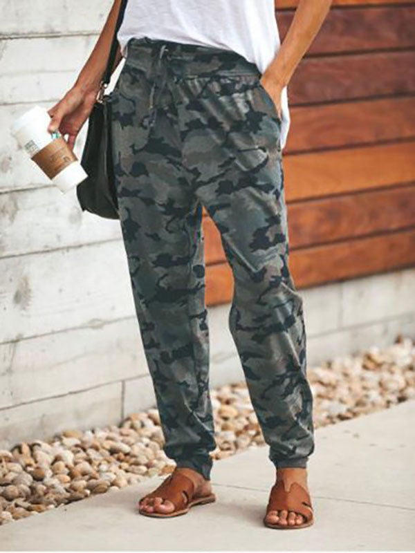 Camouflage Printed Casual Pants